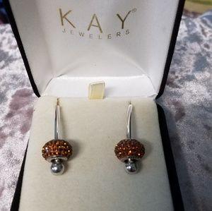 Kay earrings.